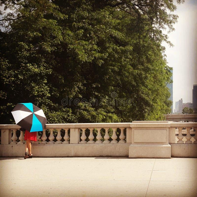Signora in Chicago fotografia stock