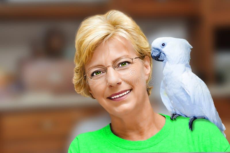 Signora With Cockatoo immagine stock