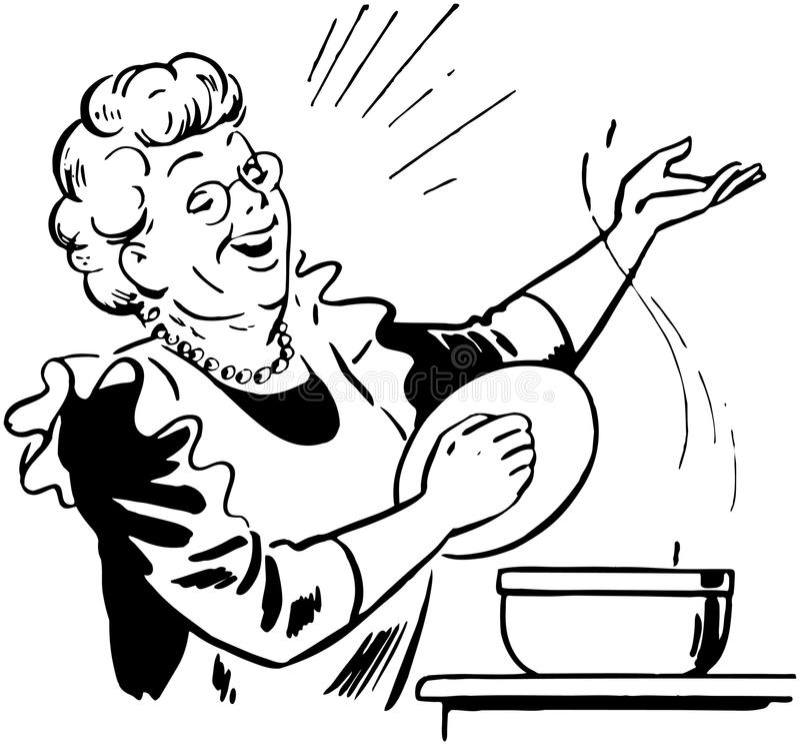 Signora Cook With Pot royalty illustrazione gratis