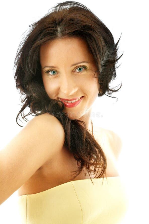 Signora in corsetto giallo #2 immagine stock libera da diritti