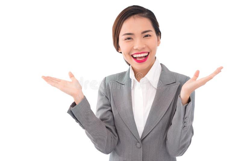 Signora d'applauso di affari immagini stock