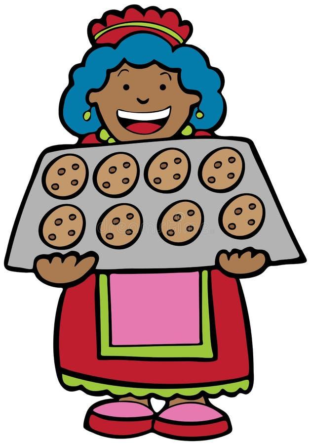 Signora del biscotto illustrazione vettoriale
