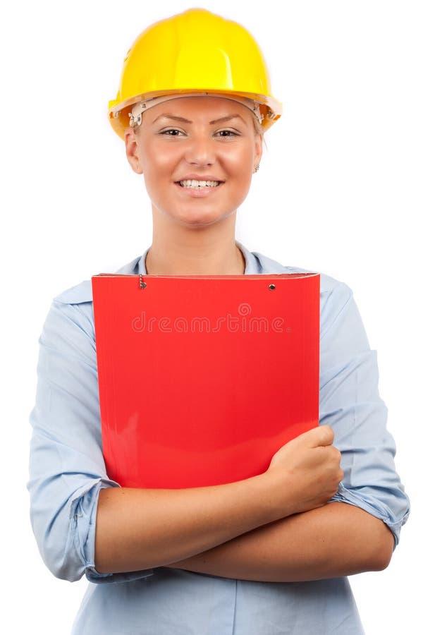 Signora dell'assistente tecnico o dell'architetto immagini stock