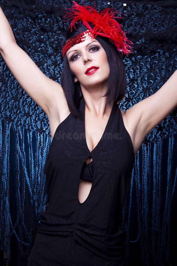 Signora della falda del cabaret fotografia stock libera da diritti