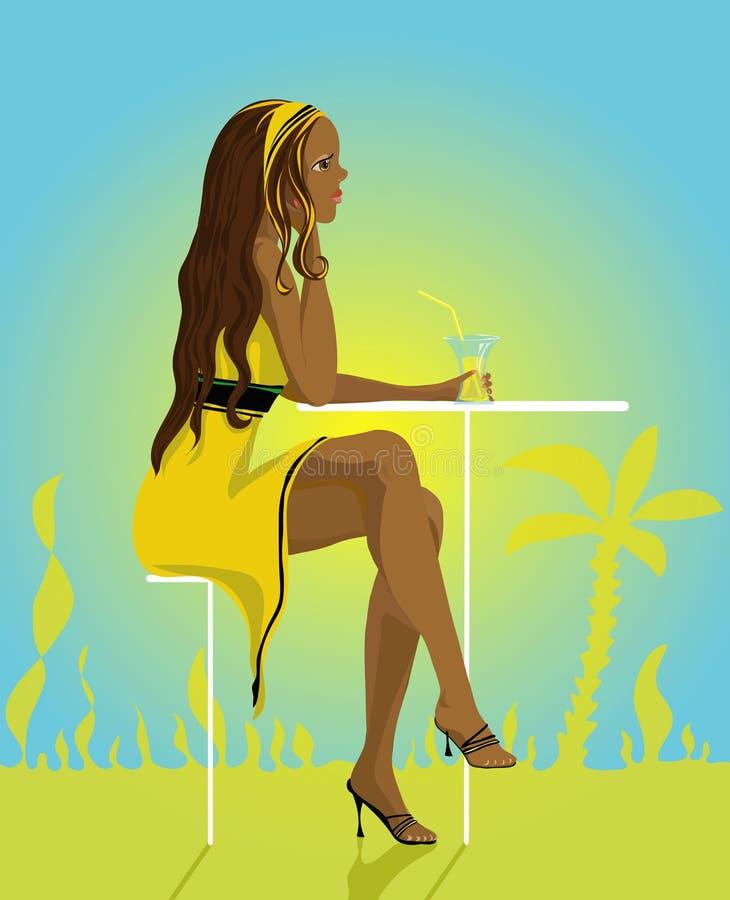 Signora di estate illustrazione di stock
