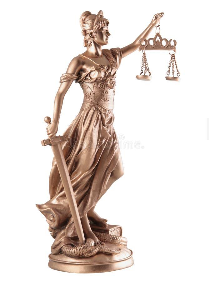 Signora di giustizia immagine stock