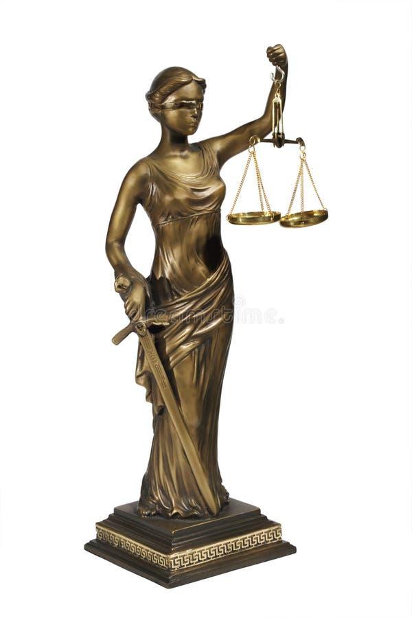 Signora di giustizia fotografia stock