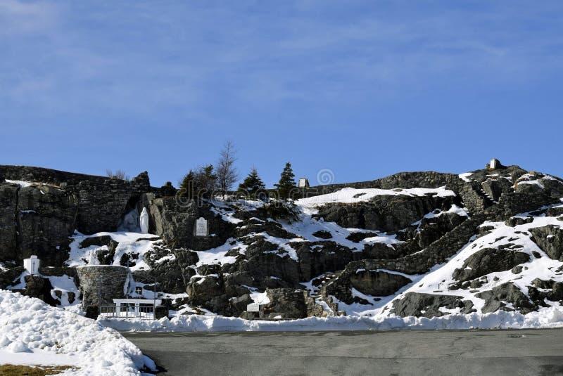 Signora di Lourdes Grotto in Flatrock, nl immagine stock