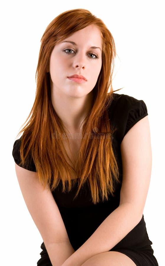 Signora di Redhead fotografia stock