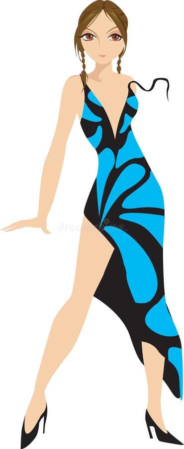Signora ed abito illustrazione di stock