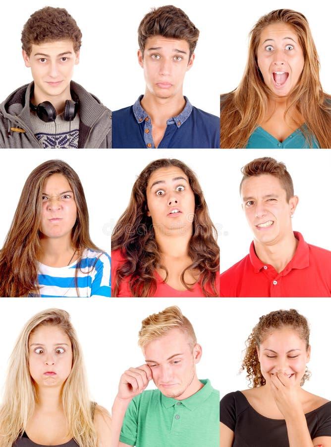Signora facciale di Expressions fotografia stock