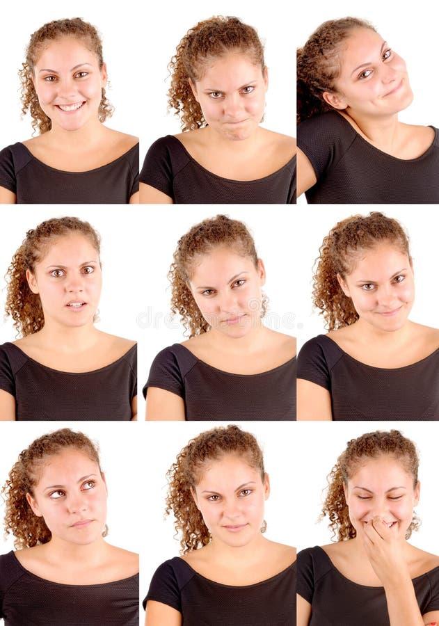 Signora facciale di Expressions fotografia stock libera da diritti