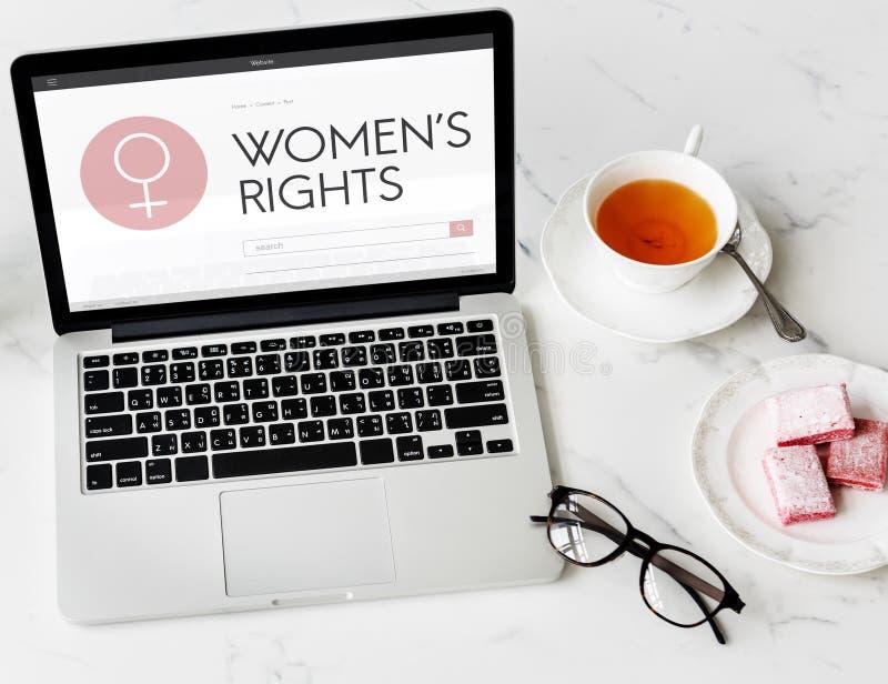 Signora femminile Feminism Concept della ragazza della donna di diritti delle donne fotografie stock libere da diritti
