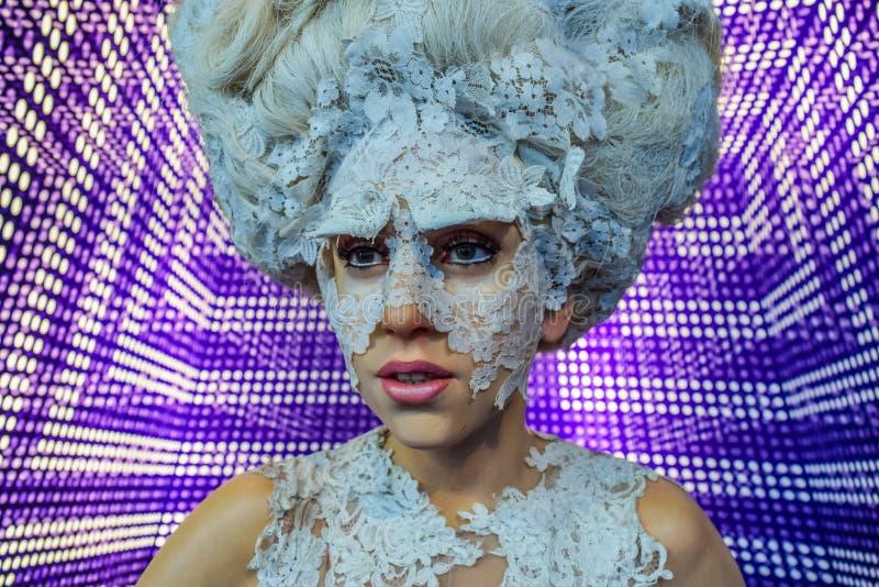 Signora Gaga, figura di cera Stefani Joanne Angelina Germanotta immagini stock