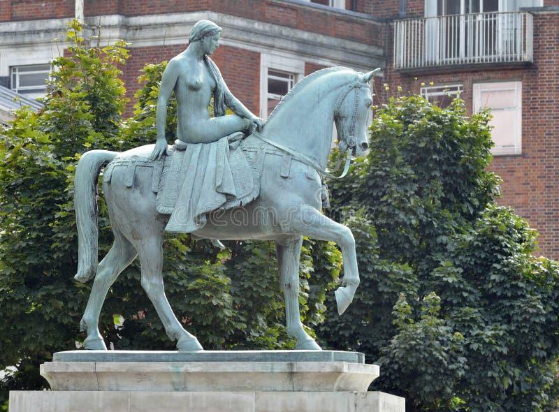 Signora Godiva Statue fotografia stock