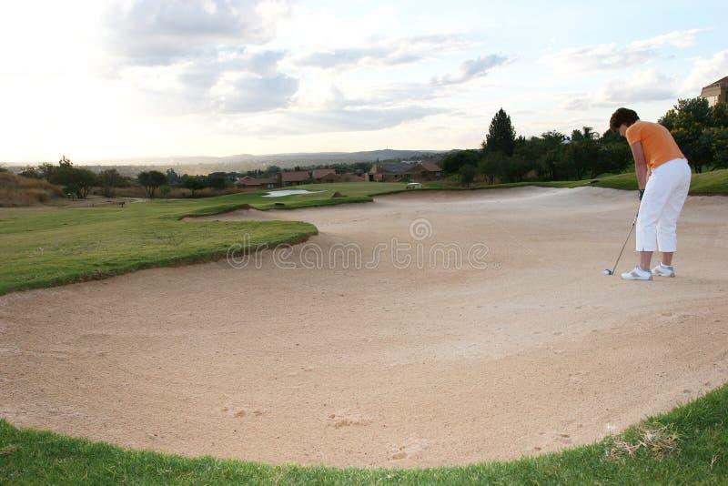 Signora Golfer immagini stock