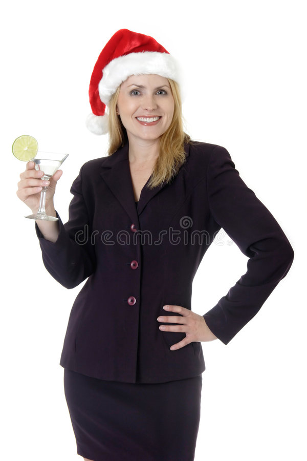 Signora graziosa al partito di ufficio fotografie stock libere da diritti