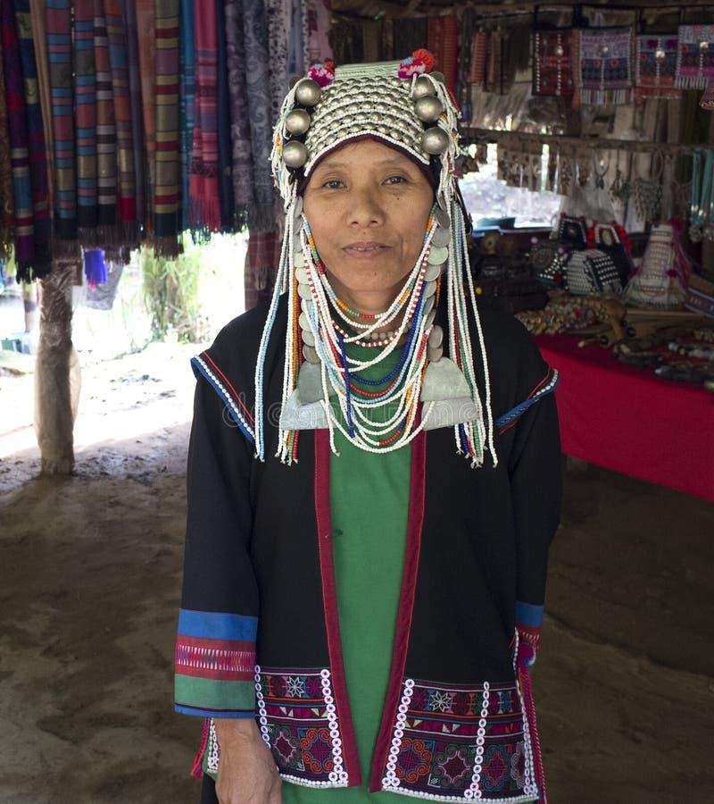 Signora indigena di Akha Tailandia immagini stock libere da diritti