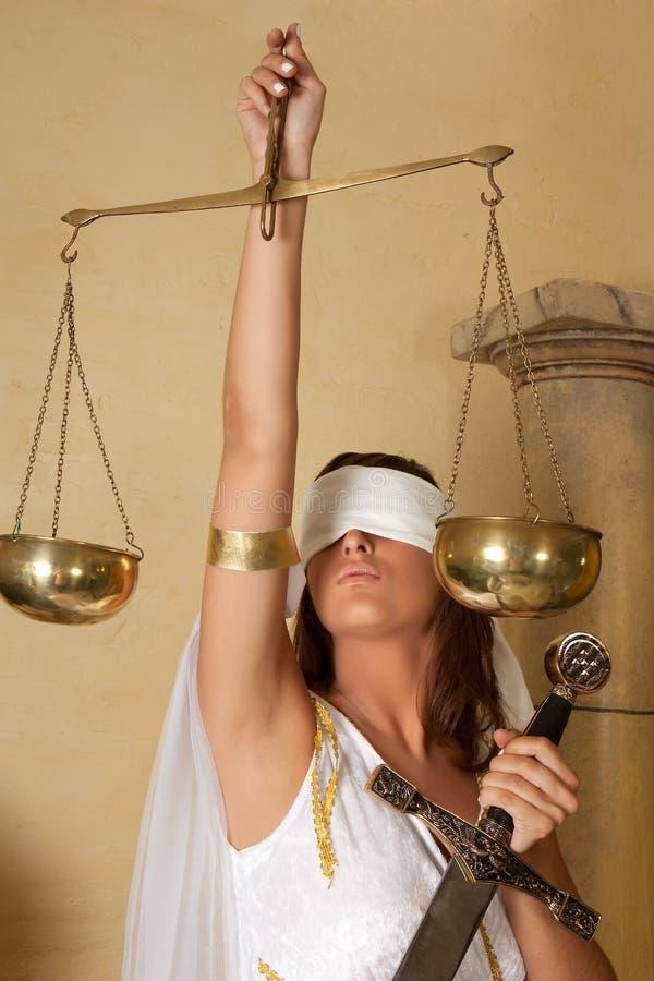 Signora Justitia fotografie stock libere da diritti