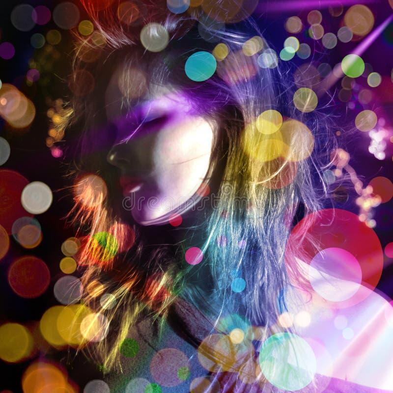 Signora lucida della discoteca fotografie stock
