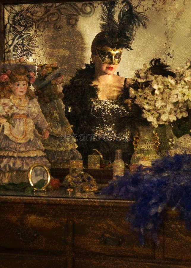 Signora mascherata fotografie stock libere da diritti
