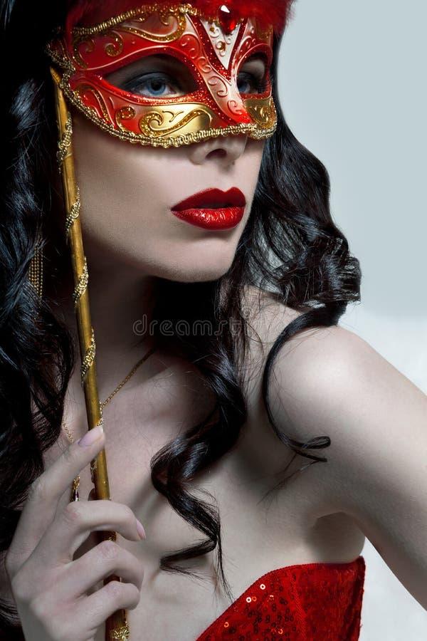 Signora In Mask fotografia stock libera da diritti