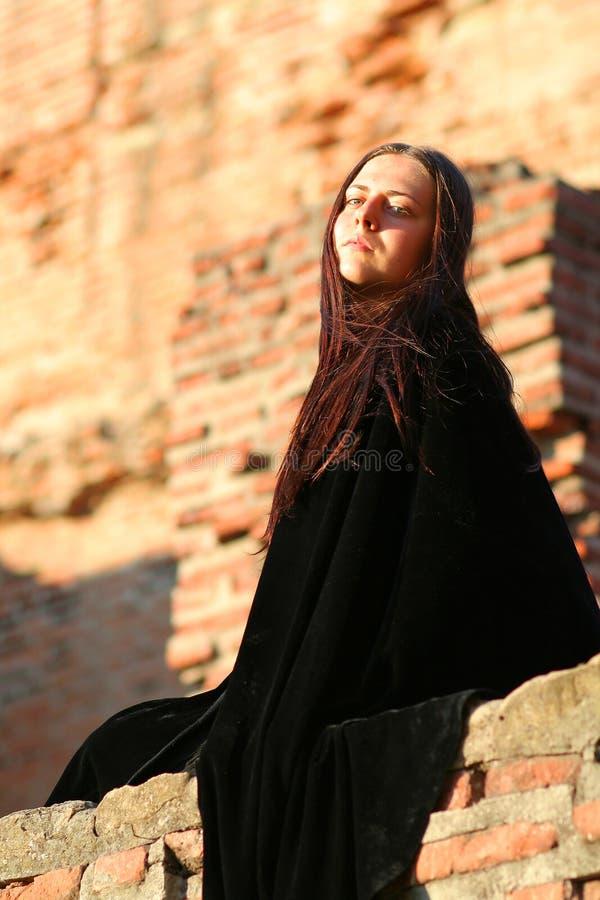 Signora medioevale fotografie stock libere da diritti