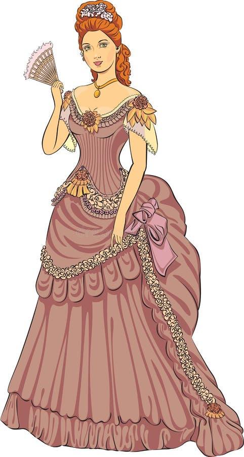 Signora moda vittoriano royalty illustrazione gratis