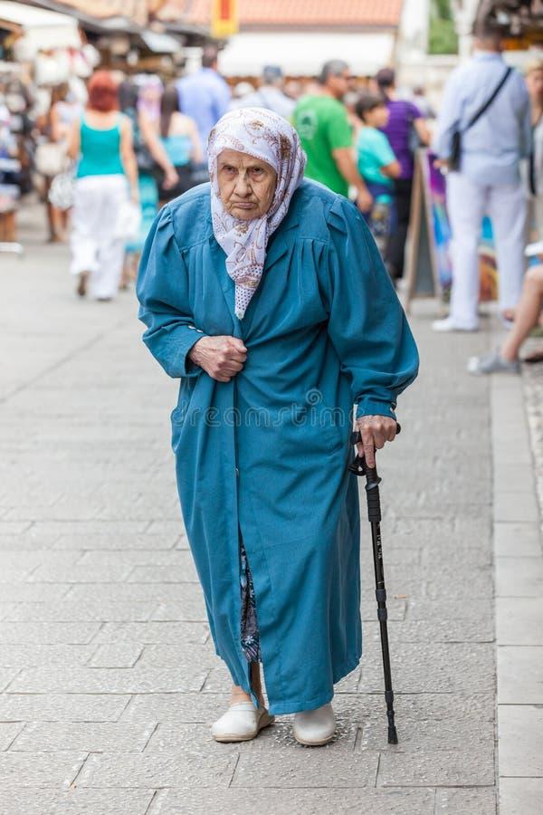 Signora musulmana anziana fotografia stock