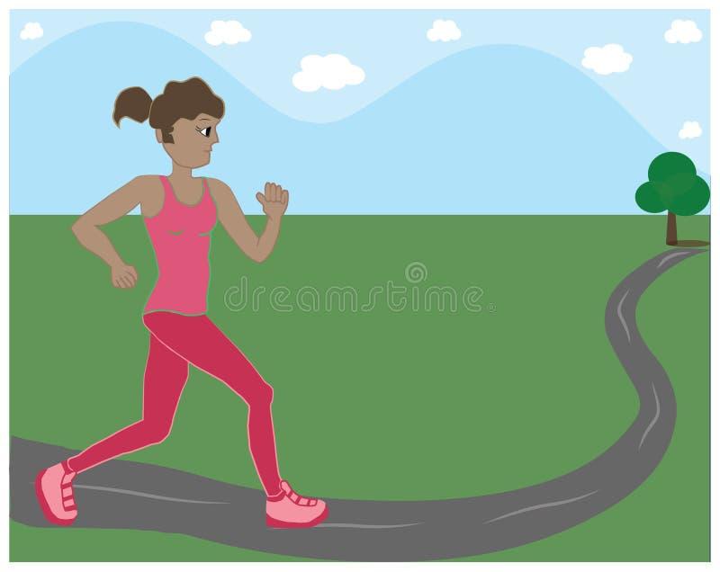 Signora Runner immagini stock libere da diritti