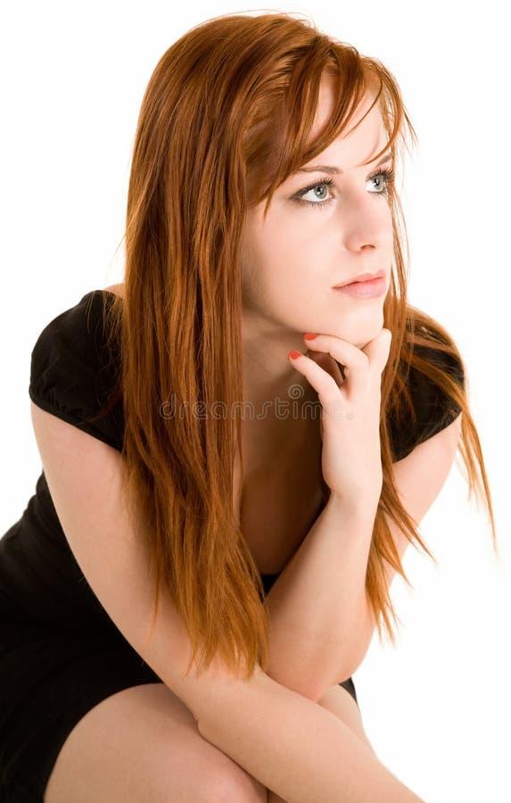 Signora sexy di Redhead immagini stock libere da diritti