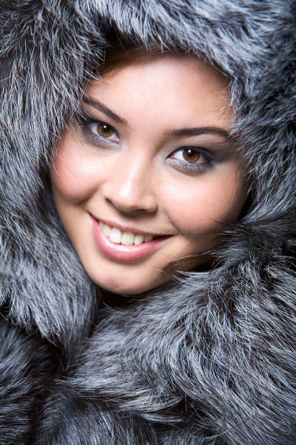 Signora simile a pelliccia fotografia stock