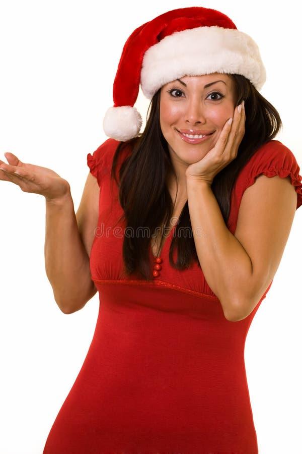 Signora sveglia Santa immagine stock
