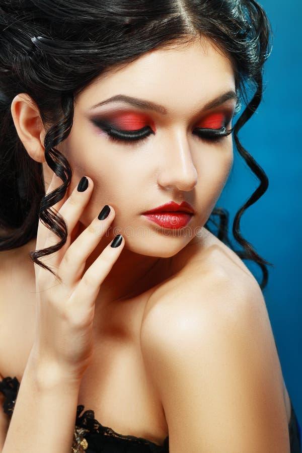 Signora Vamp Style immagini stock libere da diritti