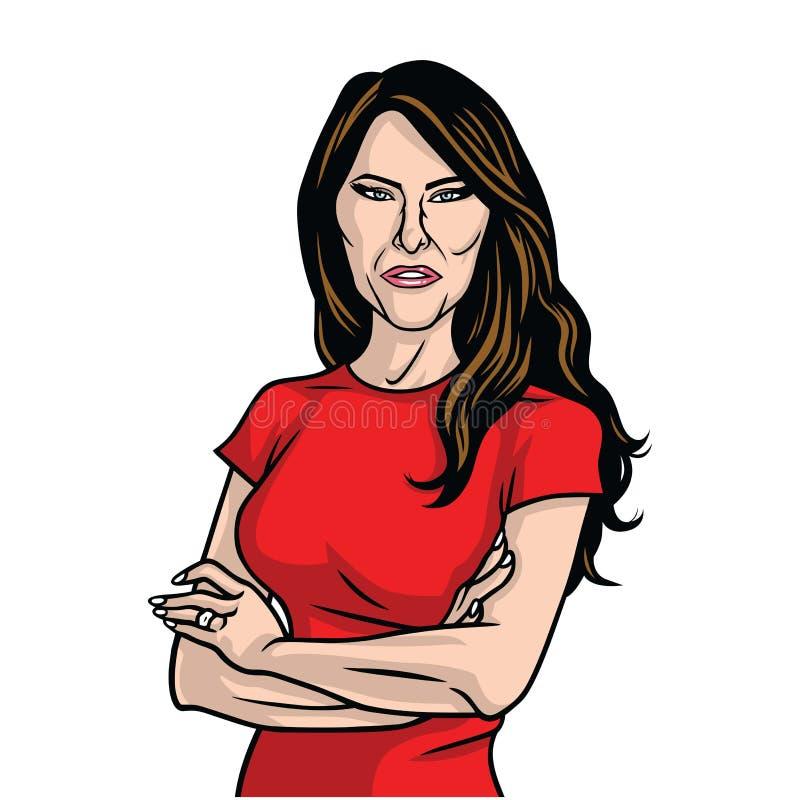 Signora Vector Portrait di Melania Trump Stati Uniti primi