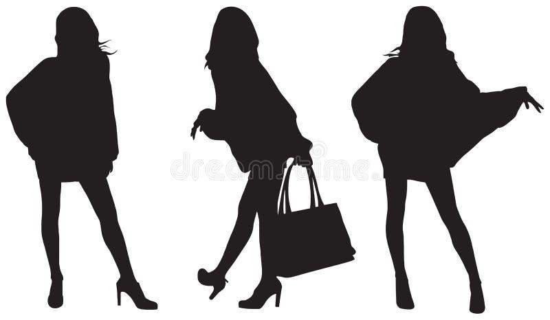 Signore alla moda illustrazione di stock