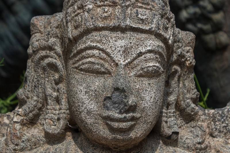 Signore dio indù, incisione di pietre vishnu fotografia stock libera da diritti