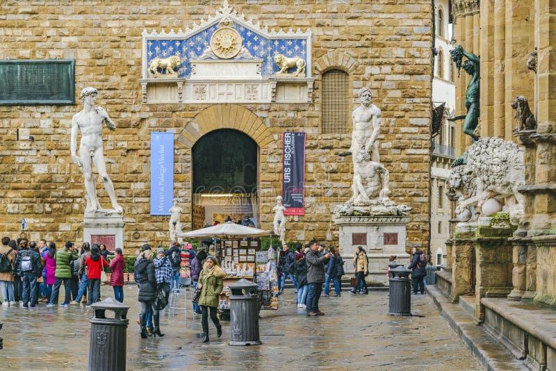 signoria för dellaflorence italy piazza royaltyfri foto