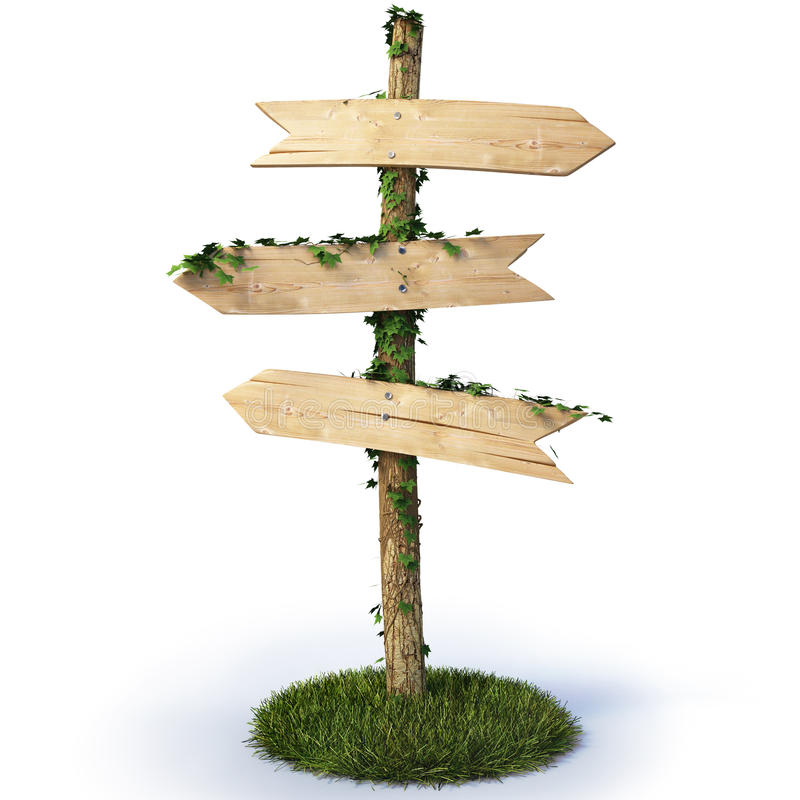 Signpost stock illustration