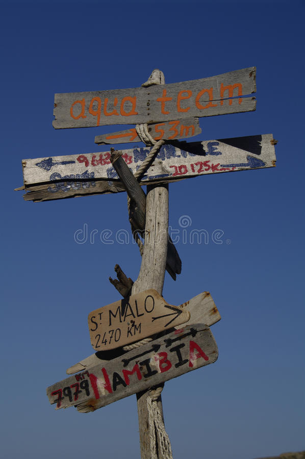 Download Signpost stock photo. Image of islands, pointer, malo - 13648402