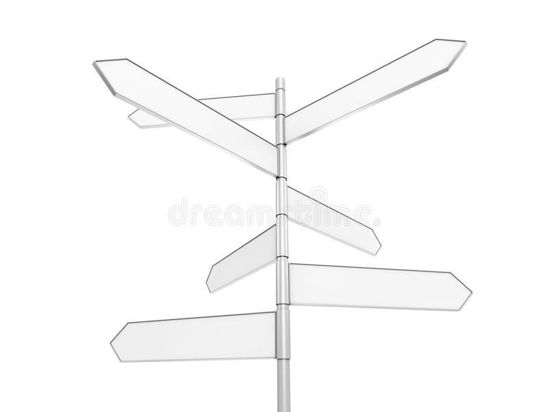 Signpost. Isolated signpost with clipping path vector illustration