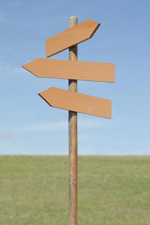 Download Signpost stock photo. Image of pointer, copy, direction - 27037196