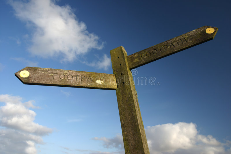 Signpost stock image