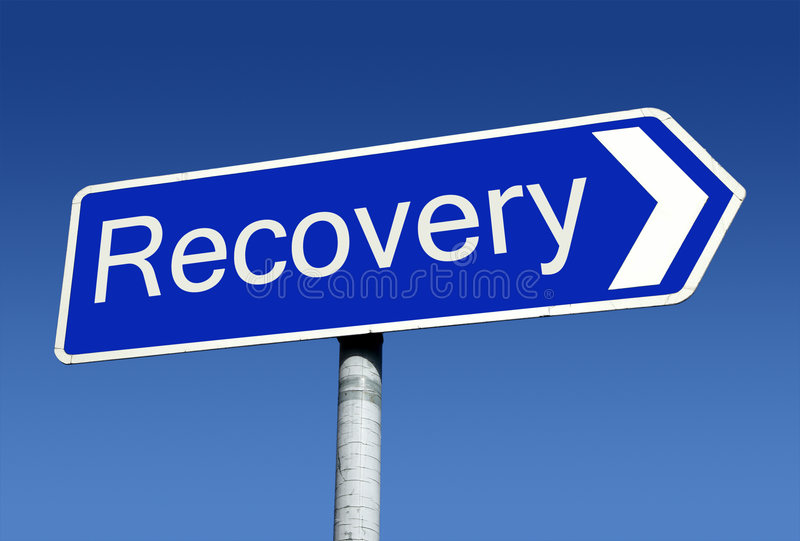 Download Signpost Along The Road To Recovery. Stock Photo - Image: 8060222