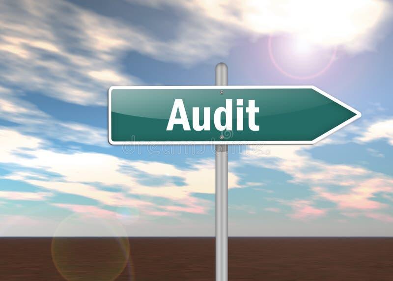 Signpost Audit. Signpost Illustration with Audit wording vector illustration