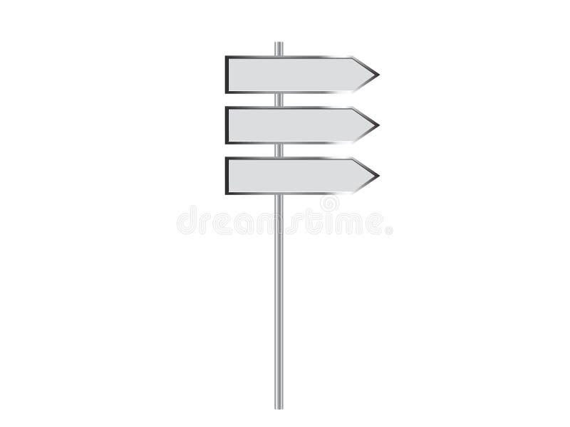 Signpost in bianco 2 royalty illustrazione gratis