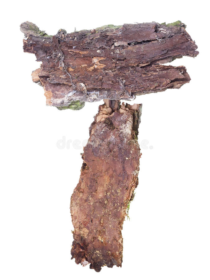 Download Signpost Bulletin Board From Old Pine Bark Stock Image - Image: 22761229