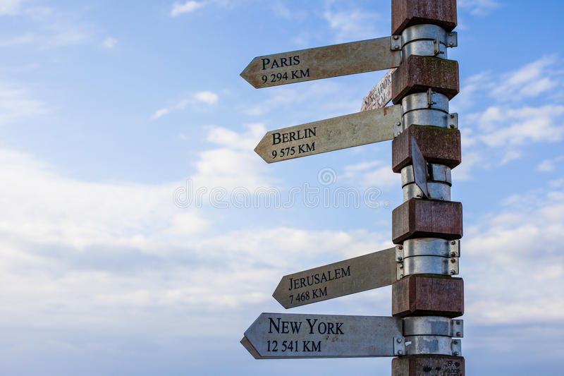 Download Signpost at Cape Point stock image. Image of nobody, clear - 27980429