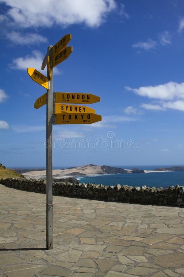 Signpost at the Cape stock images