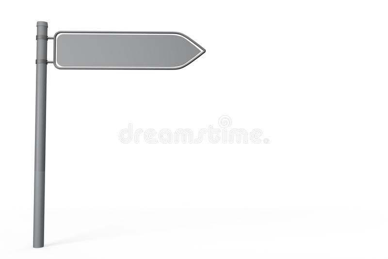 Signpost che indica la destra illustrazione di stock